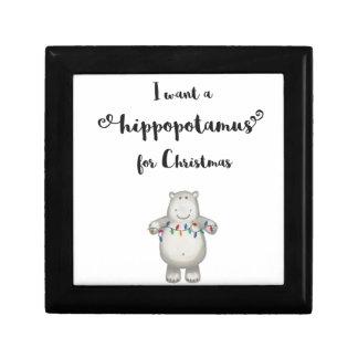 Joyero Quiero un hippopotamus para el navidad