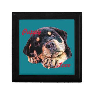 Joyero Raza alemana canina del perro de Rott del amor