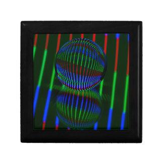 Joyero Rojo, verde, azul en la bola de cristal