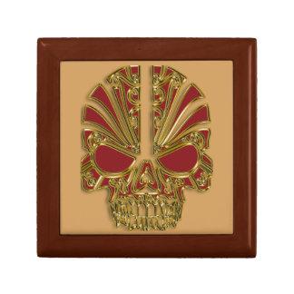 Joyero Rojo y cráneo del cráneo del azúcar del oro