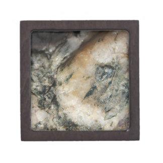 Joyero Textura mineral del cuarzo blanco y negro