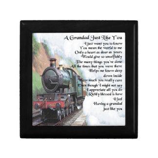 Joyero Tren - poema del Grandad