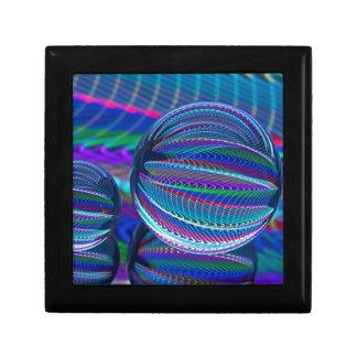 Joyero Tres bolas de cristal en color