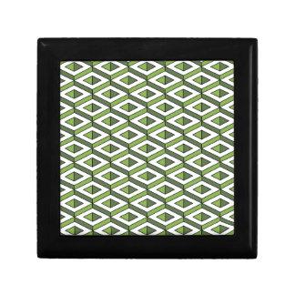 Joyero verdor y col rizada de la geometría 3d