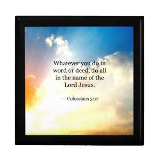 Joyero Verso de la biblia - 3:17 de Colossians
