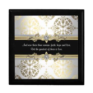 Joyero Verso negro de la biblia del damasco del oro