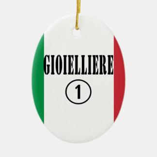 Joyeros italianos: Uno de Gioielliere Numero Adorno Ovalado De Cerámica