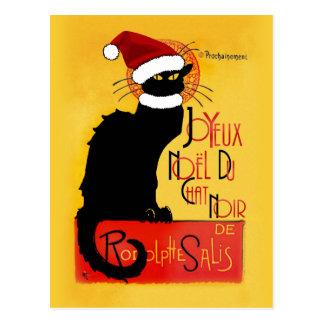 Joyeux Noël Du Chat Noir Postal