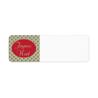 Joyeux Noel - etiquetas de devolución francesas