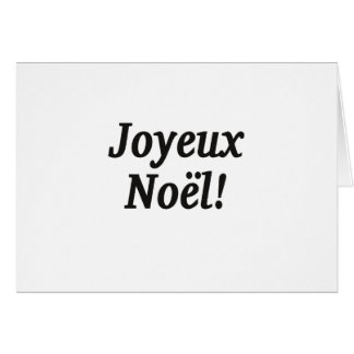¡Joyeux Noël! Felices Navidad en el FB francés Tarjeta De Felicitación