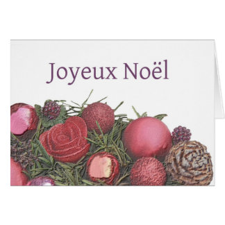 Joyeux Noël - navidad francés - Carte de Noël Tarjeton