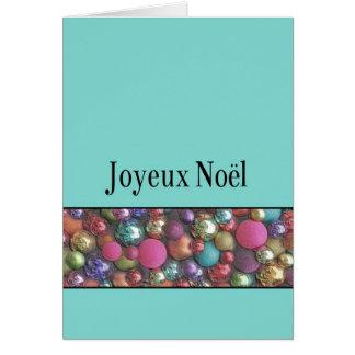Joyeux Noël - navidad francés - Carte de Noël Tarjeta De Felicitación