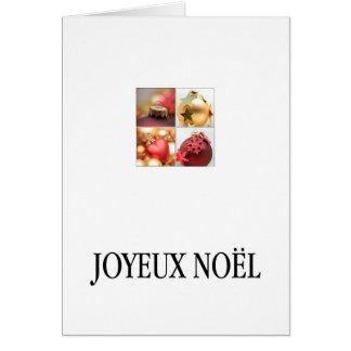 Joyeux Noël - navidad francés - Carte de Noël Tarjetón