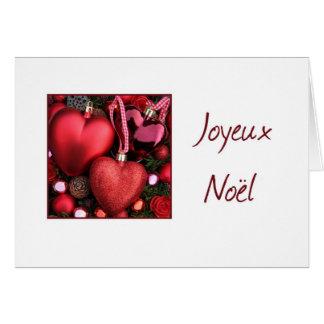 Joyeux Noël - navidad francés - Carte de Noël Tarjeta