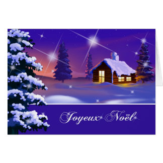 Joyeux Noël. Tarjeta de Navidad adaptable francesa