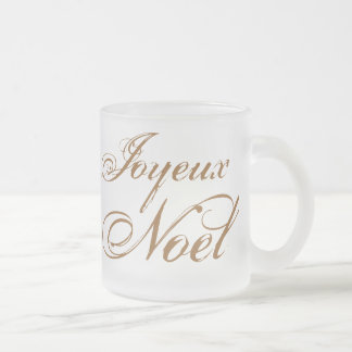 Joyeux Noel Taza De Café Esmerilada