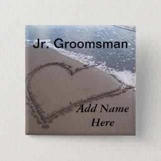 JR botón del boda de playa del padrino de boda
