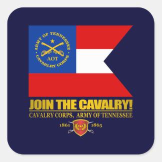 JTC (cuerpo de caballería, ejército de Tennessee) Pegatina Cuadrada