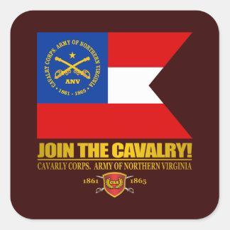 JTC (cuerpo de caballería, ejército de Virginia Pegatina Cuadrada