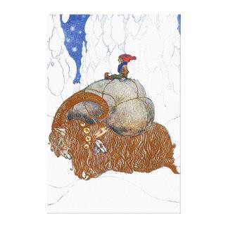 Juan Bauer el escandinavo de la cabra del navidad Impresión En Lienzo