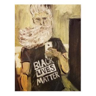 Juan Brown Selfie/materia negra de las vidas Postal