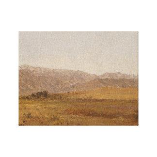 Juan Frederick Kensett - gama y colinas Nevado Impresión En Lienzo