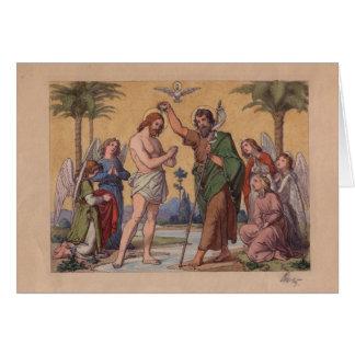JUAN QUE BAUTIZA A JESÚS TARJETA DE FELICITACIÓN