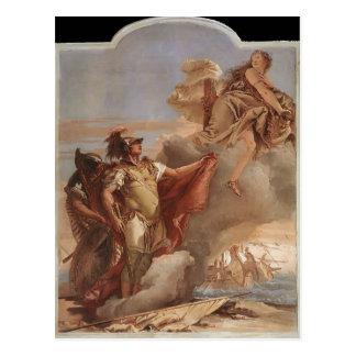 Juan Tiepolo: El adiós de Venus a Aeneas Postal