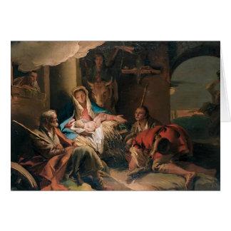 Juan Tiepolo- la adoración de los pastores Tarjeta De Felicitación