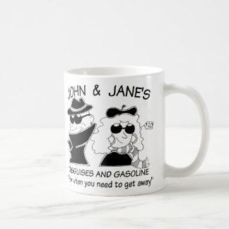 Juan y disfraces y gasolina de Janes Tazas De Café