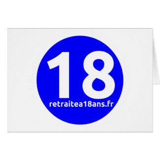 Jubilación a 18 años tarjeta de felicitación