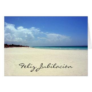 jubilación del playa tarjeta de felicitación
