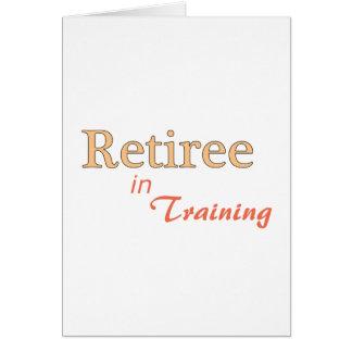 Jubilado en el entrenamiento felicitaciones
