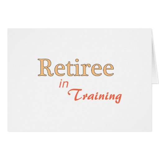 Jubilado en el entrenamiento felicitación