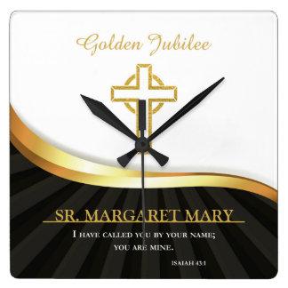 Jubileo de oro de la vida religiosa, 50 años reloj cuadrado