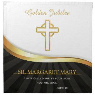 Jubileo de oro de la vida religiosa, 50 años servilleta de tela