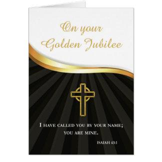 Jubileo de oro de la vida religiosa, 50 años tarjeta de felicitación