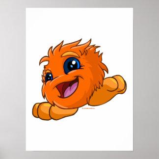 JubJub anaranjado feliz Poster
