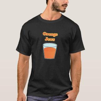 Judíos anaranjados - negro camiseta