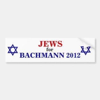 Judíos para el pegatina 2012 de Bachmann Pegatina De Parachoque