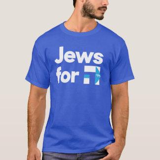 Judíos para la camisa hebrea azul de H Hillary