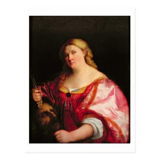 Judith, c.1525-28 (aceite en lona) postal