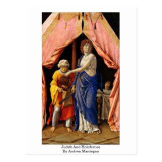 Judith y Holofernes de Andrea Mantegna Postal