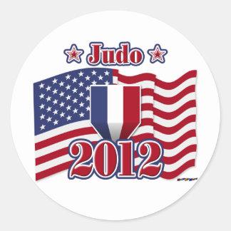 Judo 2012 etiquetas redondas