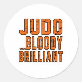 Judo Bloody brillante Etiquetas Redondas