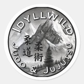 Judo de Idyllwild y pegatina redondo de Jujutsu