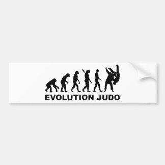 Judo de la evolución pegatina para coche