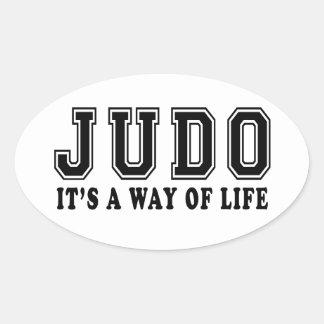 Judo es manera de vida calcomanías ovaladas