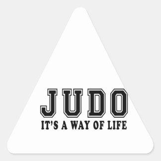 Judo es manera de vida pegatinas trianguladas