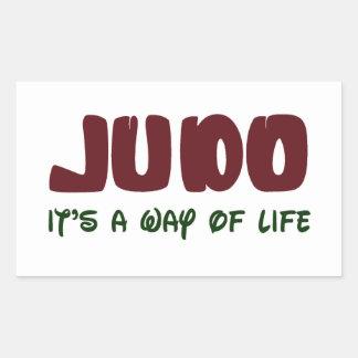 Judo es una manera de vida rectangular pegatina